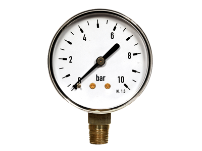 "MANOMETER 63x1/4"" RAD 0+10 BAR KL.1,6"