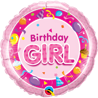 BIRTHDAY GIRL FOLIEBALLON
