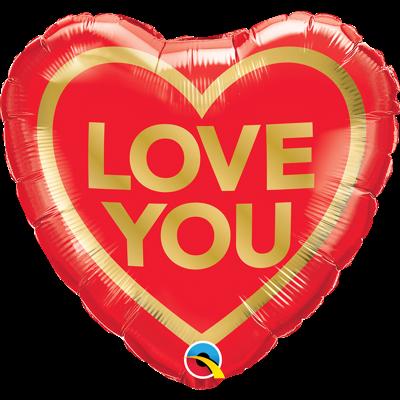LOVE YOU HJERTEBALLON