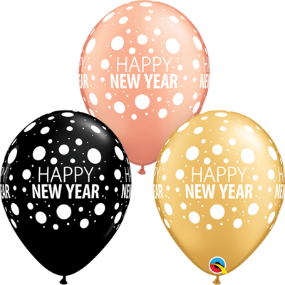 HAPPY NEW YEAR BALLOONS - 25 pcs.