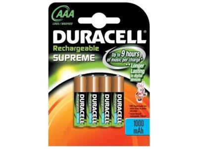 Batteri genopladeligt (AAA) LR03 pk. med 4 stk.