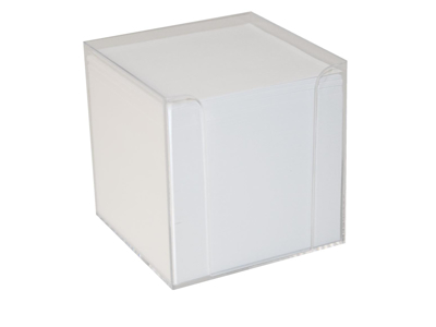 Block Cube white with holder