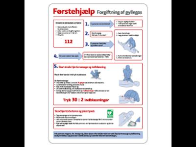 Førstehjælp - Gyllegas - Refleks alu A4