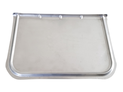Feedingplate stainless for piglets-UniFeeder with trailing edge