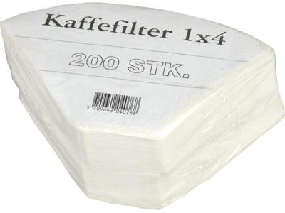 Kaffefiltre 1x4 pk. med 200 stk.