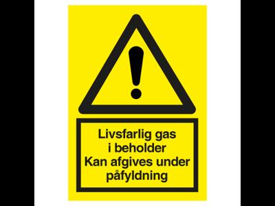 Livsfarlig gas i beholder A4