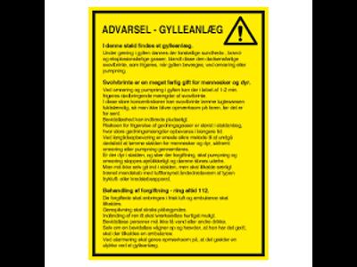 Advarsel - Glyyeanlæg A3