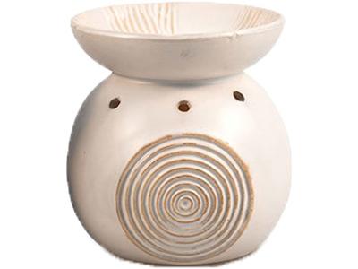Duftlampe keramik hvid