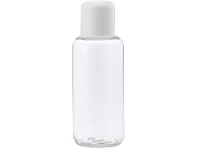 Klar plastflaske 100 ml hvidt låg