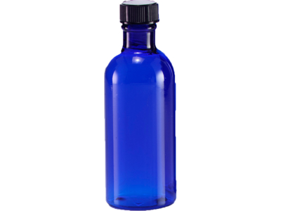 Blå plastflaske 100 ml