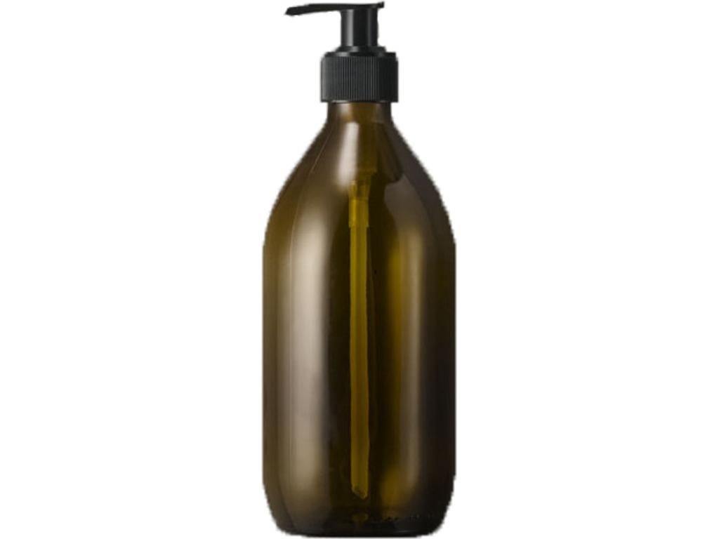 Brun glasflaske 500 ml med pumpe