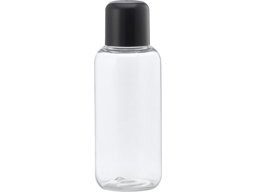 Klar plastflaske 100 ml sort låg