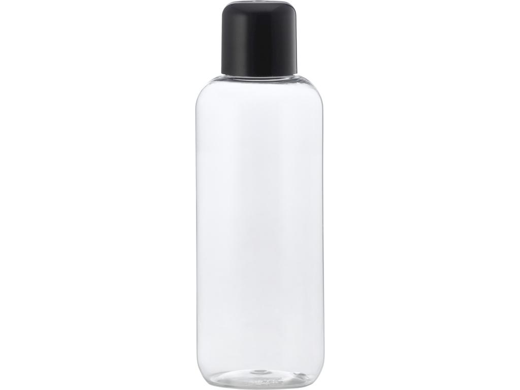 Klar plastflaske 250 ml sort låg
