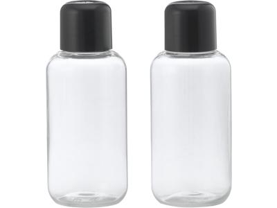 Klar plastflaske 50 ml sort låg