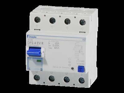Doepke DFS4 RCD 040-4/0,03-A EV HD 60°C 4-polet, 4M R - til ladestandere.