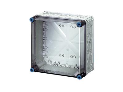 Tomme kasser med transparent låg