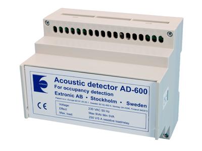 AD600 Akustisk detektor f/DIN-skinnemont