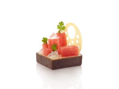 Tærteskal Firkant choko 5,3 cm á 24 stk.