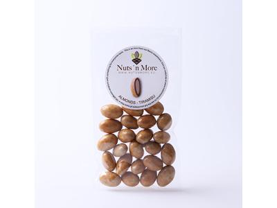 Drageret mandler m/ lys chokolade og tiramisu 135 gr