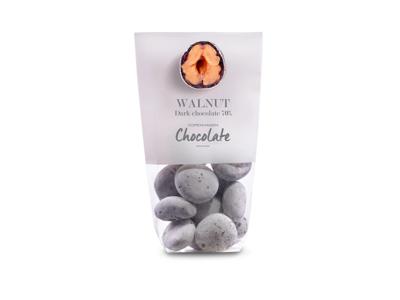 Drageret valnødder m/ mørk chokolade 70% 125 gr
