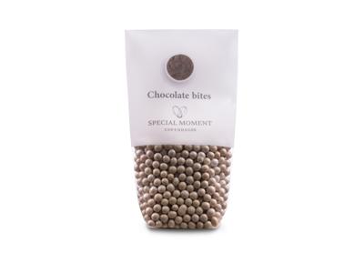 Drageret chokoladekugler mini elfenben 130 gr