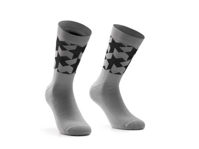 Assos Monogram Socks EVO - Cykelstrumpor - Grå