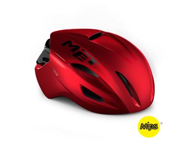 MET Manta Mips - Aero Cykelhjelm - Red Metallic