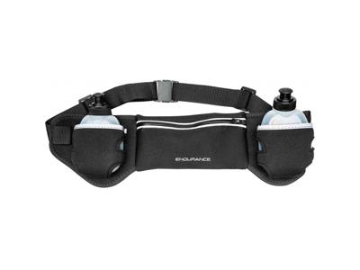 Endurance Iskan - løbetaske m. flasker - Black -  Str. One size