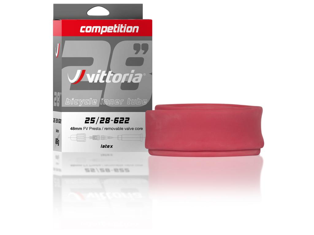 """Vittoria Slange 26"""" og 27,5"""" x 1,70-2,30 Latex med 36mm lang ventil thumbnail"""