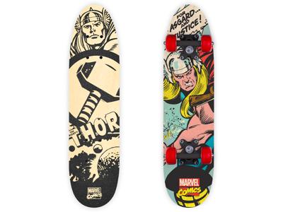 Seven - Avengers Thor - Skateboard - Sort/rød