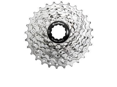 Sunrace CSR91 - Kassette 9 gear - 12-25 tands - Road - Til Shimano eller Sram - Nickel