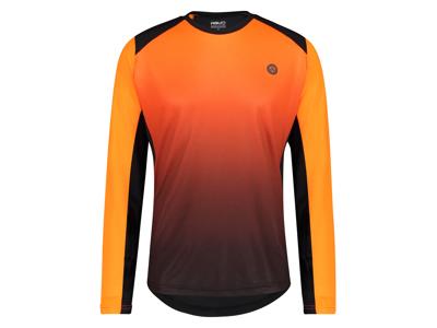 AGU - Cykeltröja med långa ärmar - Lös passform - MTB - Neon Orange