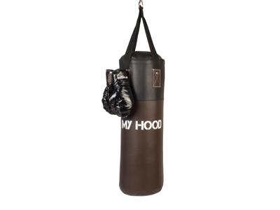 My Hood  - Boksesæk retro med handsker - 10 kg - 4-12 år