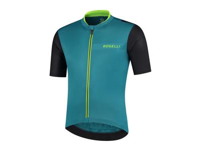 Rogelli Minimal - Cykeltrøje - Korte ærmer - Blå/Grøn/Sort