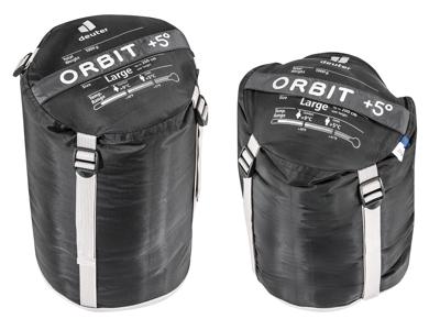 Deuter Orbit +5 L - Sovepose til voksne op til 200 cm - Granite Steel