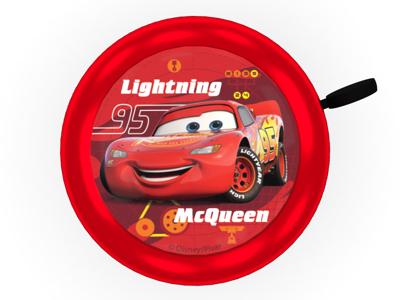 Seven - Cars 3 - Ringeklokke til børnecykel - Rød -  Str. Ø55mm