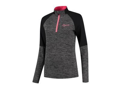 Rogelli Enjoy - Sports -T -shirt dam - Långa ärmar - Melange svartrosa