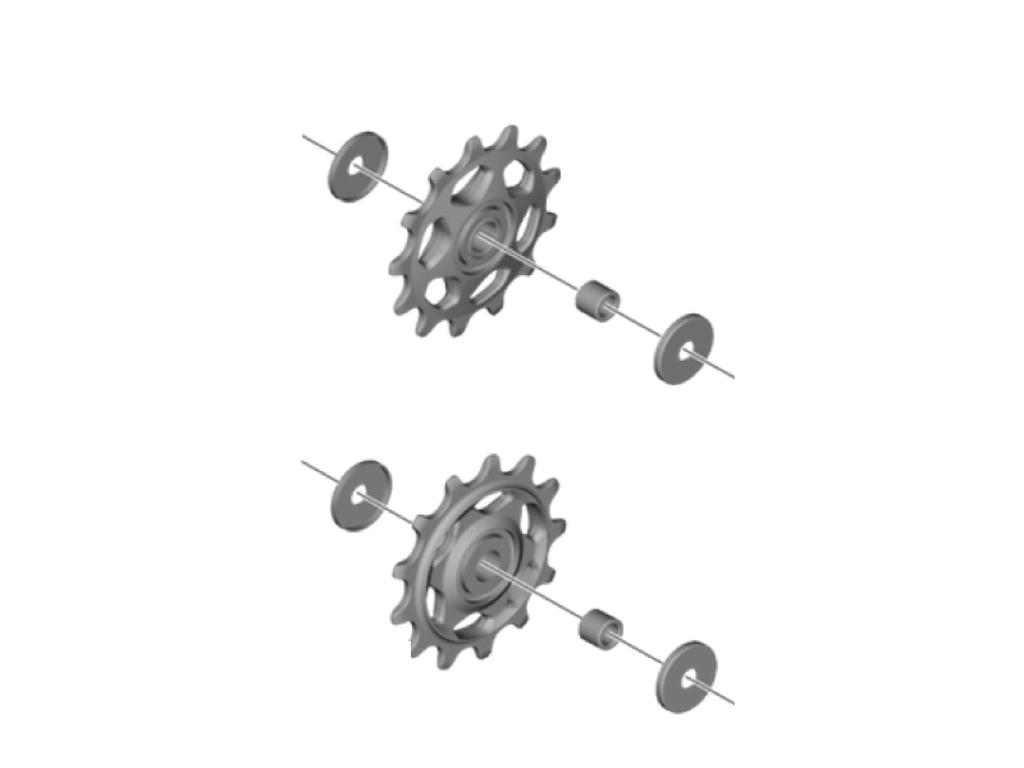 Køb Shimano Deore – Pulleyhjul – 1 sæt – Til bagskifter – RD-M5100