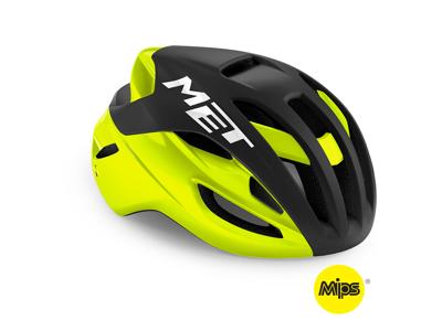 MET Rivale Mips - Cykelhjelm - Matsort/Gul