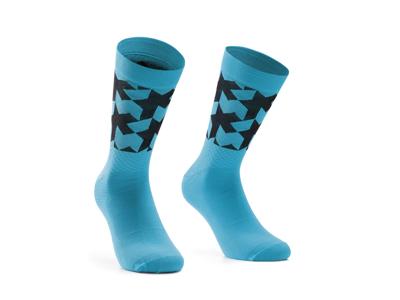 Assos Monogram Socks EVO - Cykelstrumpor - Blå