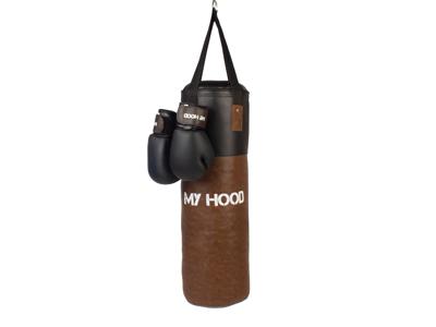 My Hood  - Boksesæk retro med handsker - 15 kg - Børn og voksne