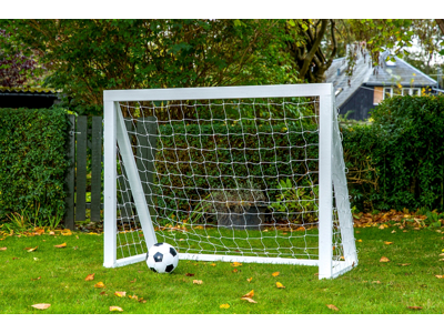 Homegoal - Pro Mini hvid - Fodboldmål i træ - 150x120 cm