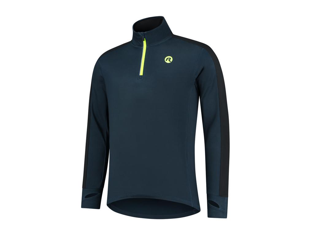 Køb Rogelli Electro – Sports T-shirt – Lange ærmer – Dynaflex – Blå sort flour – Str. M