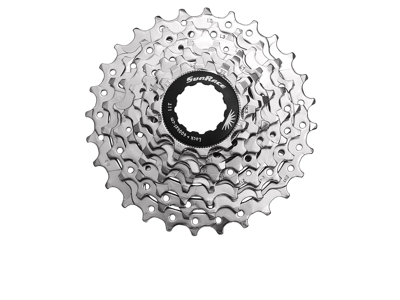 Sunrace CSR86 - Kassette 8 gear - 12-25 tands - Road - Til Shimano eller Sram - Nickel