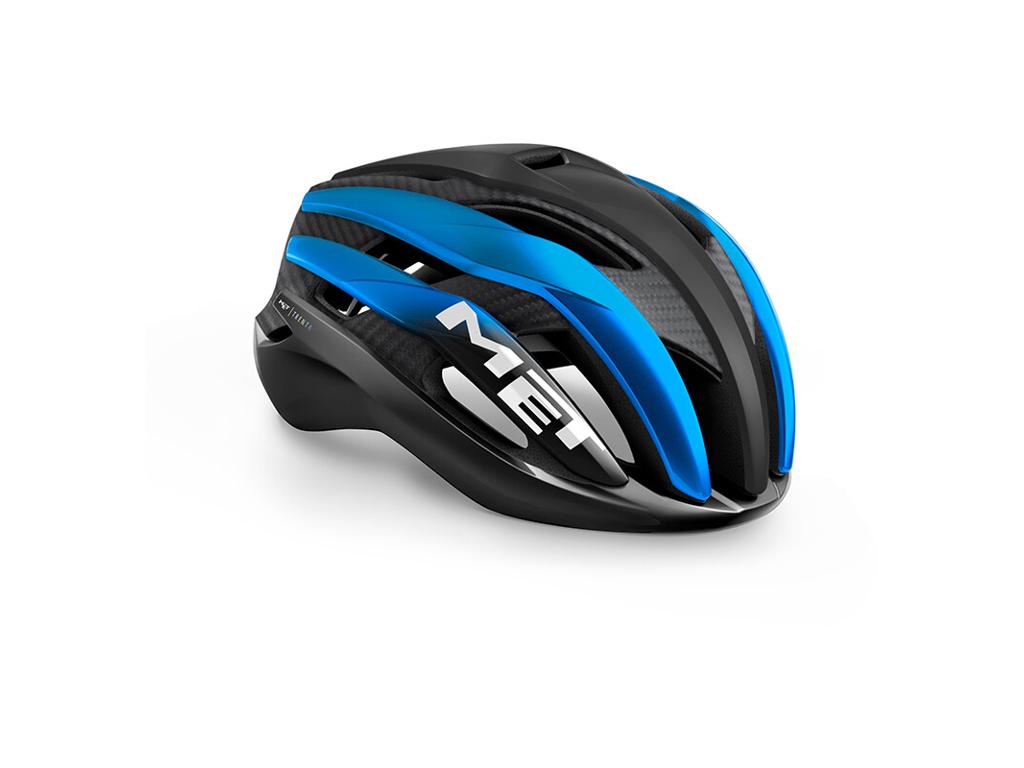 Met Trenta 3K Carbon - Cykelhjelm - Matsort/Mat Blå - Str. 58-61 cm thumbnail
