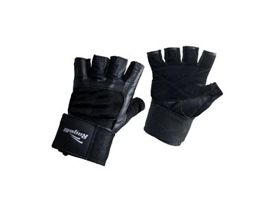 Rogelli Sparti - Fitness handske - Læder med net