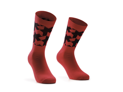 Assos Monogram Socks EVO - Cykelstrømpe - Rød