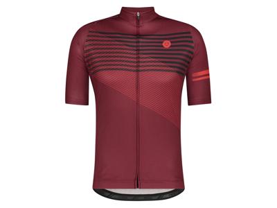 AGU Jersey Striped - Cykeltrøje - Rød