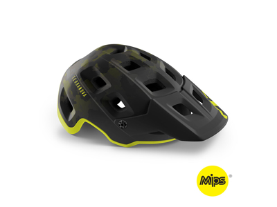MET Terranova Mips - MTB Cykelhjelm - Camo Lime Green/Mat