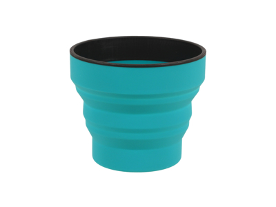 LifeVenture Ellipse Collapsible Cup - Silicone - Teal